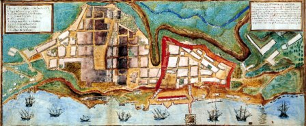 Early 17th century map of Salvador