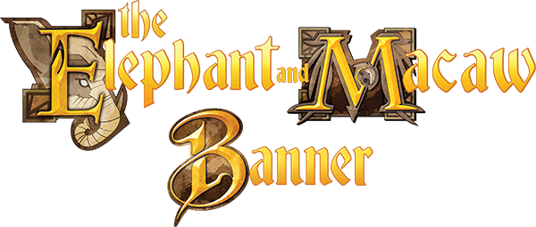 The Elephant and Macaw Banner